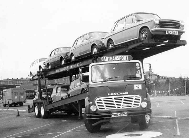 Leyland Mastiff Transporter, load of 1300, Maxi, Marinas, Minis.