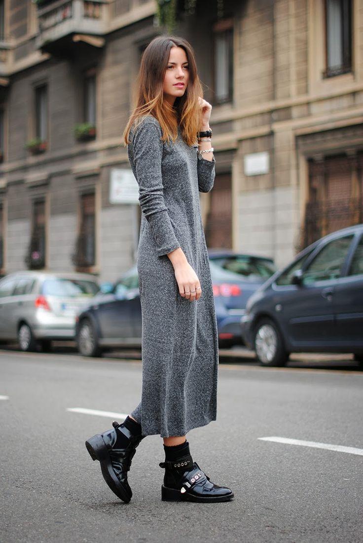 Dress: Zara, Boots: Balenciaga