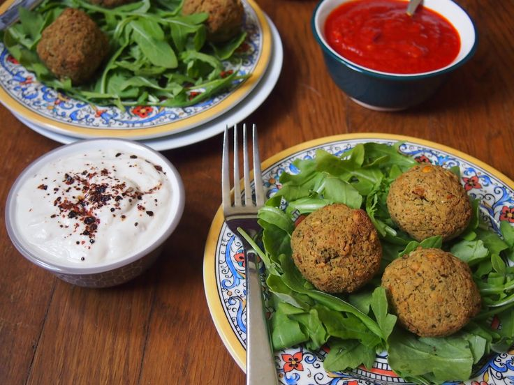 An Avocado A Day: Baked Green Falafel with Three Dipping Sauces