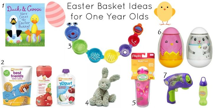 Easter Basket Ideas for One Year Olds! #Easter #Toys #HappyFamily