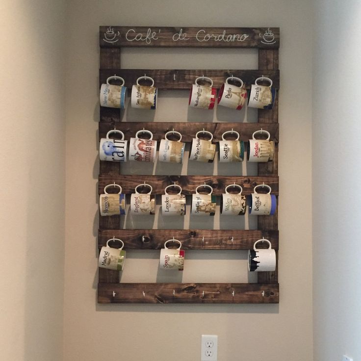Coffee mug holder coffee mug rack coffee cup display for Mug racks ideas