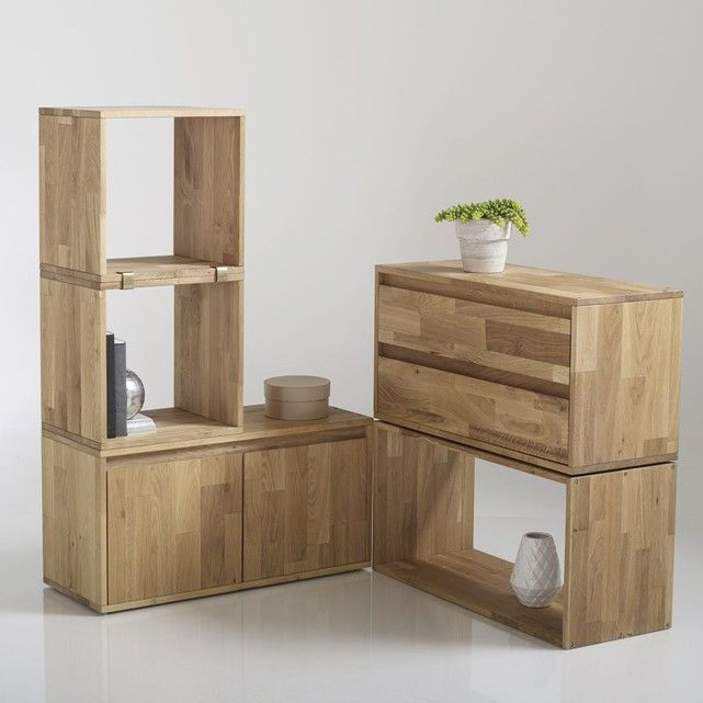 tag re rangement 2 tiroirs ch ne massif edgar etagere. Black Bedroom Furniture Sets. Home Design Ideas