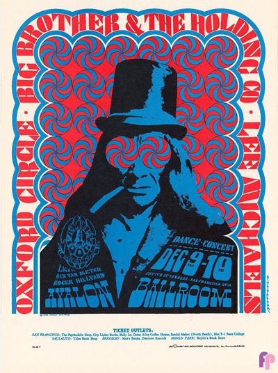 Oxford Circle. Big Brother & The Holding Company. Lee Michaels. Lights Ben Van Meter & Roger Hillyard. 1966. Avalon Ballroom.
