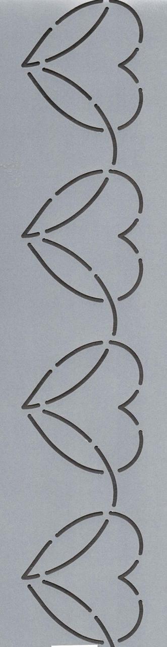 """Dancing Heart Border 3"""" - The Stencil Company"""