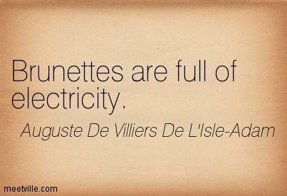 Brunettes are full of electricity. | Brunette Hair | Brown Hair |