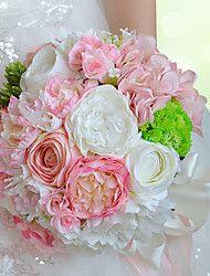 Esküvői virágok Kör Liliom Bazsarózsák Poliészter Szatén Hab Szárított virág