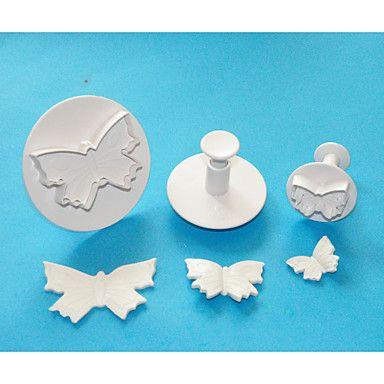 quatre c coupeurs grand papillon en plastique gâteau fondant plongeurs, des outils de décoration de gâteaux de haute qualité mis en - EUR € 4.99