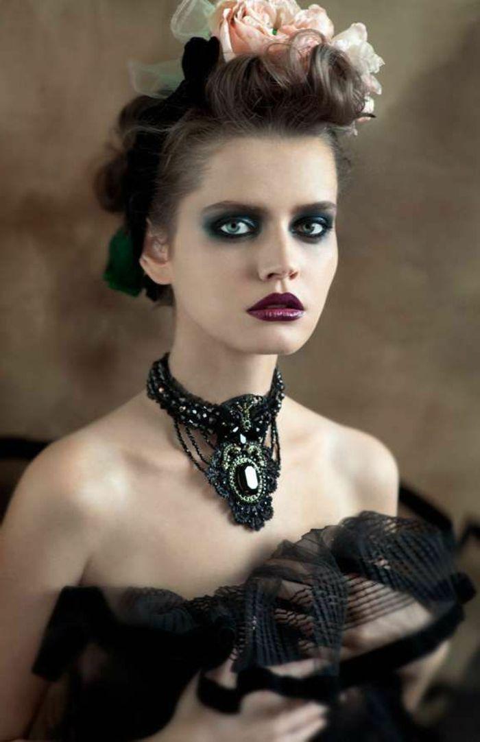 maquillage vampire romantique