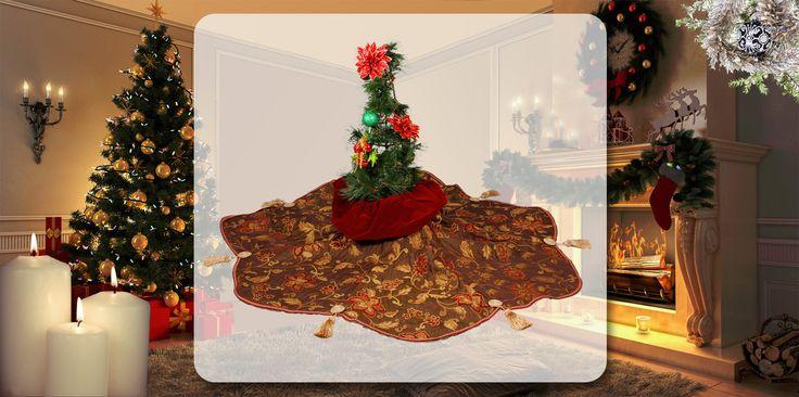 Distinctive High Quality Traditional Christmas Tree Skirts