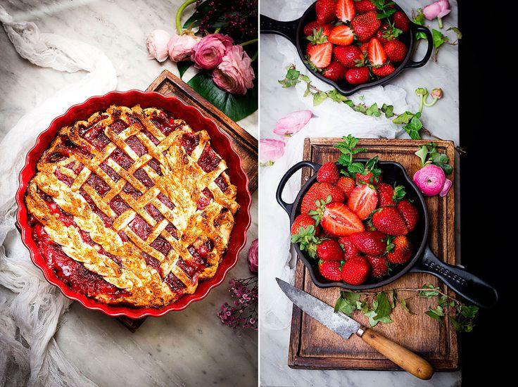 Pie de fresas