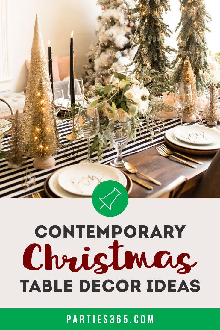 Contemporary Christmas Table Decor Table Decorations Christmas Table Decorations Contemporary Christmas