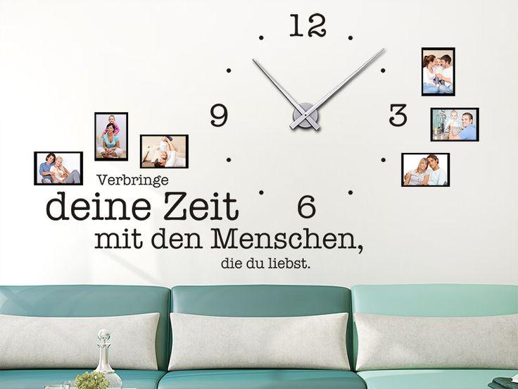 Wandtattoo Uhr Verbringe deine Zeit... hier bestellen. ✓ Große Auswahl | Top Qualität | schnelle Lieferung | kostenloser Versand (D) bei Wandtattoos.de.