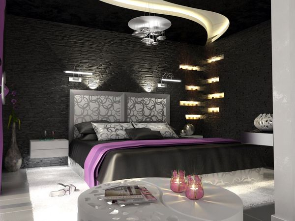 gothic theme bedroom - Bedroom Design Purple