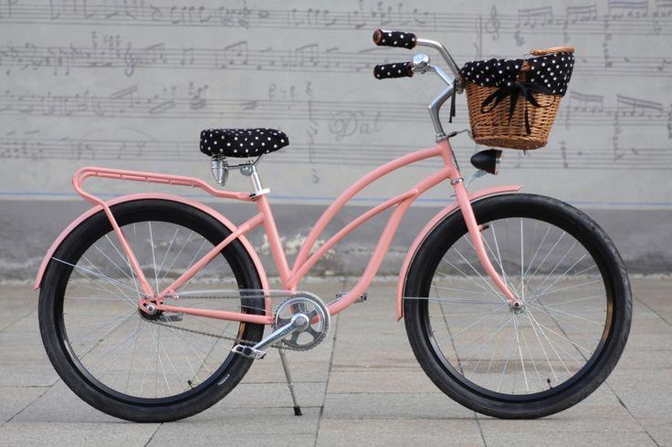 beach cruiser baskets and accessories | Retro Beach Cruiser Woman Bike - Pink Waikiki