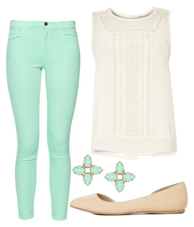 summer/spring by tayken3 on Polyvore featuring polyvore fashion style River Island French Connection Charlotte Russe Kendra Scott clothing