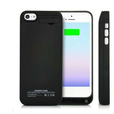Black 4200mAh External Power Bank Charger Pack Backup Battery Case for iPhone 5 5C 5S