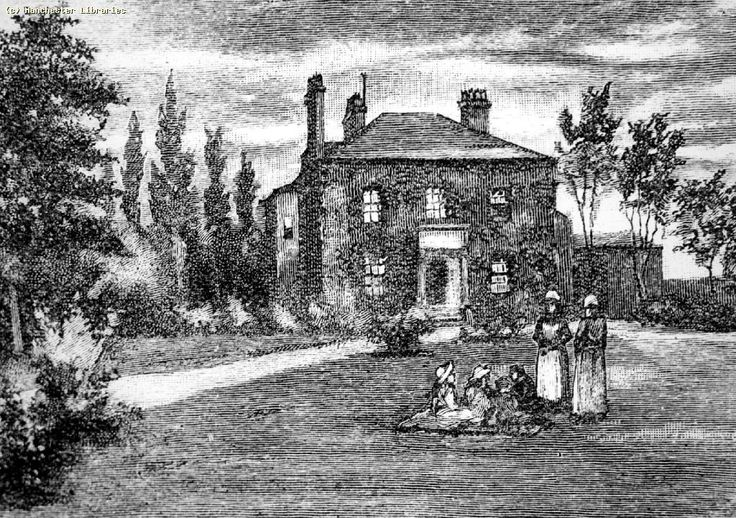 House in Greenheys, Moss Side, where Thomas de Quincey spent his younger days (1870)