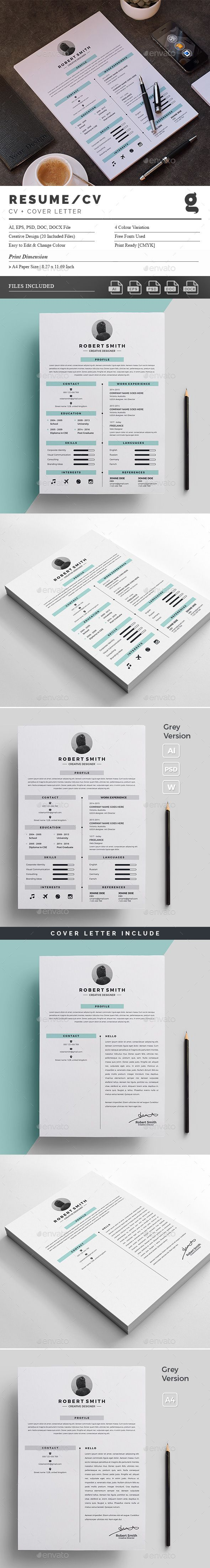1782 best Killer Resume Template & Design images on Pinterest ...