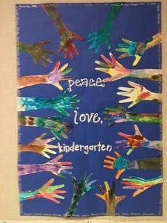 """wrap up of our rules (""""creating a peaceful classroom"""") activity. love."""
