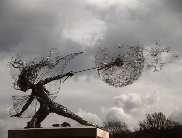 Located in Staffordshire England, Robin Wight (a.k.a Fantasywire), creates whimsical wire sculptures. These life-sized, galvanized sculptures will capture the heart of any fantasy fans because of their enchanting nature, but also because of the sheer detail put into each individual piece. Custom made to your own specifications, Fantasywire will build your very own fairy according to your wishes or send you a DIY kit if you would prefer to keep the fun of building a wire fairy for yourself…