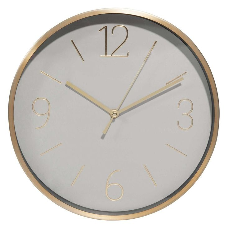excellent horloge en mtal gris et dor ma with horloge rouage maison du monde. Black Bedroom Furniture Sets. Home Design Ideas