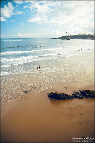 Biarritz, FRANCE. Camping holidays. Where Tania was conceived!