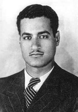 Gamal Abdel Nasser, former president of Egypt (c. 1937).