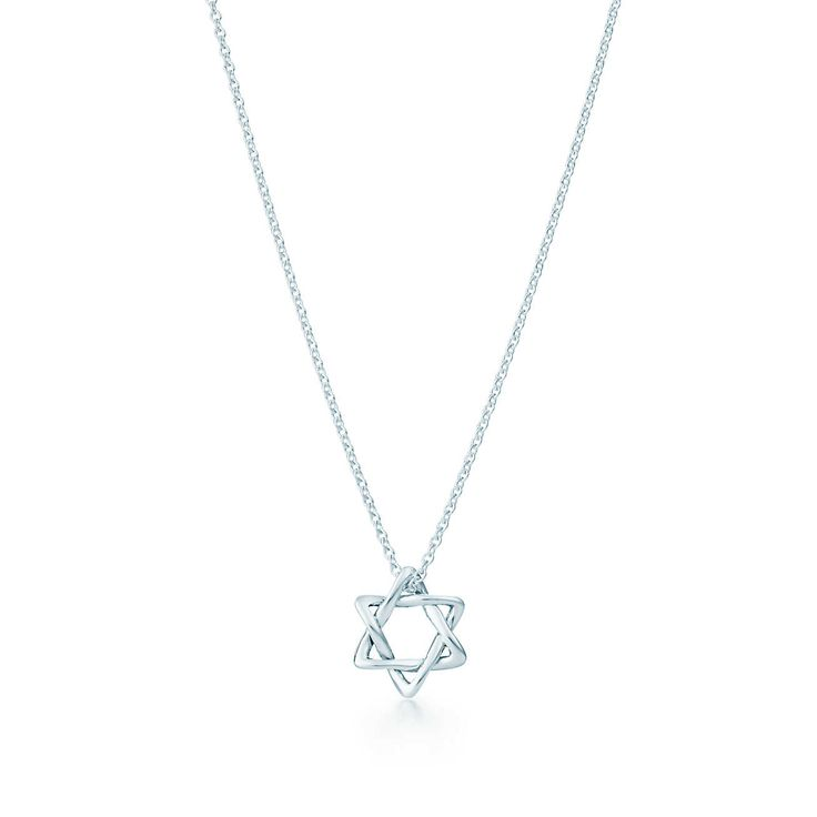 Elsa Peretti® Star of David pendant in sterling silver, 12 mm wide.