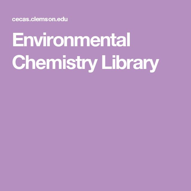 Environmental Chemistry Library