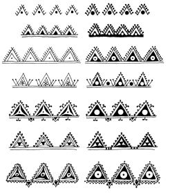 triangle doodle elements or borders. I've been a little obsessed with the three sides shapes lately