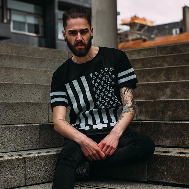 """Amerikunt"" Mesh Tee Available at www.crmcclothing.co 