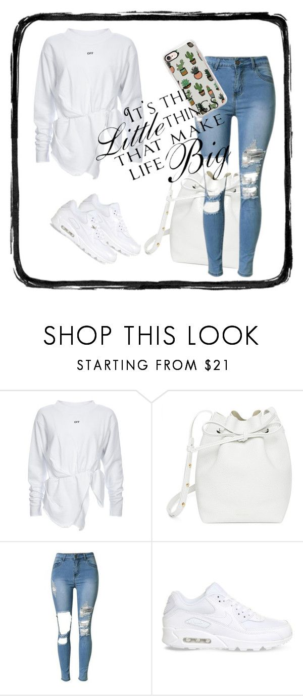 """Geen titel #75"" by xxgirlissaxx ❤ liked on Polyvore featuring Mansur Gavriel, NIKE, Casetify and WALL"