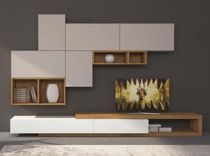 Modern Italian Wall Unit Velvet 102 by Artigian Mobili - $3,529.00