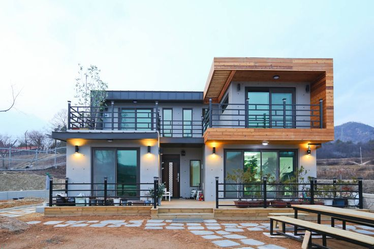 Definition of a dream home... what an amazing modern structure! 기존도면에 한층더 업그레이드된 집 : by 한글주택(주)