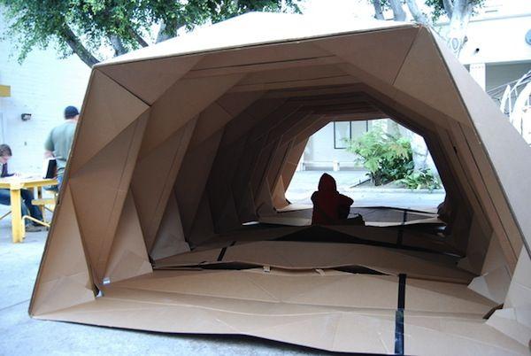 Origami-Inspired Cardboard Provides Portable 'Homes' For The Homeless - DesignTAXI.com