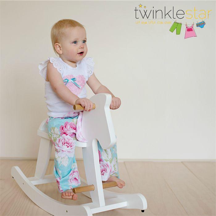 """Beautiful Blooms"" Harem Pants + embellished singlet sizes 00-2 Floral Gift Pink | Twinkle Star | madeit.com.au"