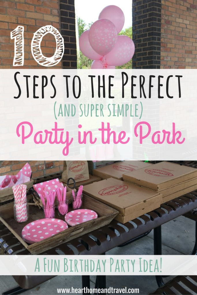 10 Steps to the Perfect and Super Simple Party in the Park
