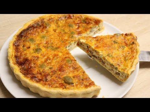 Recette de la tarte au thon, poivron et herbes par Hervé Cuisine - YouTube