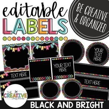Editable LabelsEditable classroom labels are great for name tags, schedule cards, basket labels, mailbox labels and much more. This EDITABLE label pack includes over 20 different size labels that include round, rectangle and square shapes. This also includes labels that are perfect for the Sterilite 3 drawer organization product.