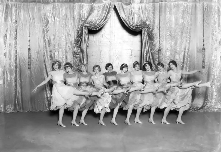 Chorus Girls at the Music Box Theatre (now the Fonda Theatre) Hollywood Blvd, c.1927.