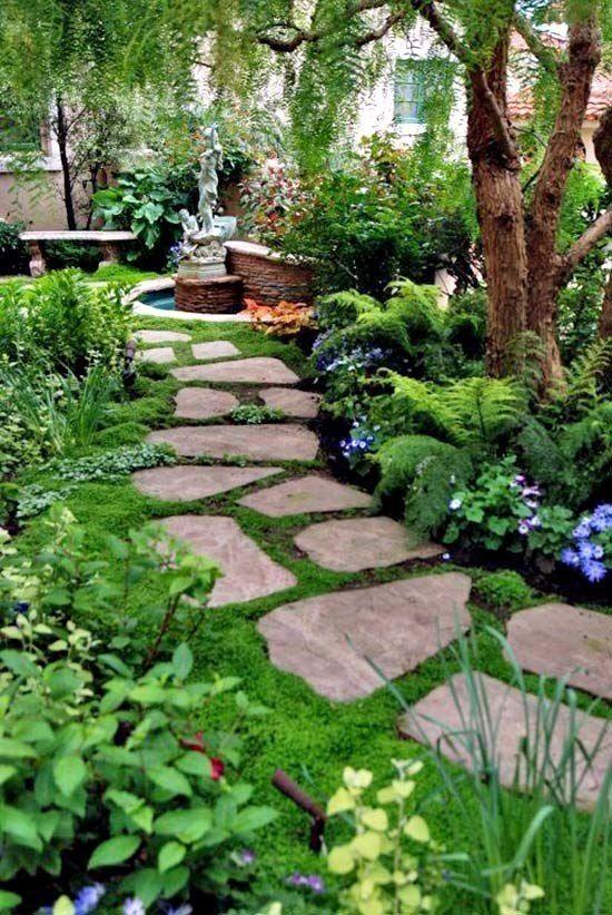 40+ Brilliante Ideen für Steinwege in Ihrem Garten