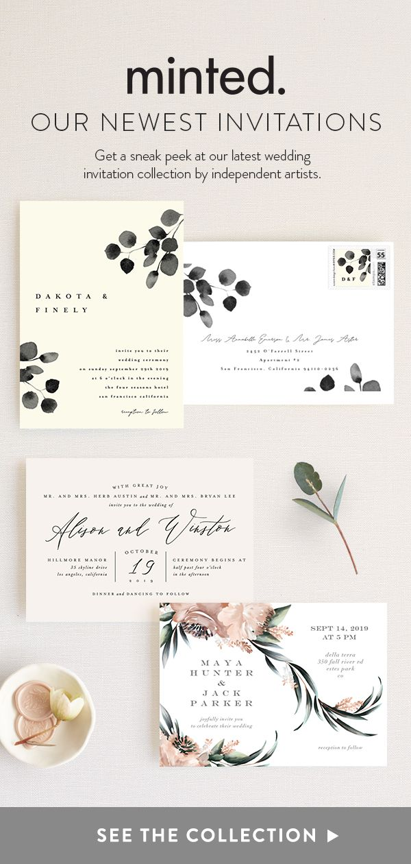 2019 Minted Wedding Invitation Designs