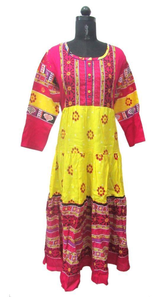 ethnic Indian Kurti designer Anarkali rayon Kurta casual dress Bollywood tunic #Nisha #Indiananarkali