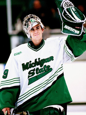 Ryan Miller, former Michigan State Spartans goaltender now with the Buffalo Sabres