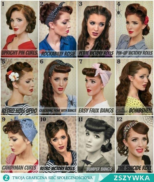 Fryzury Lata 50 Szukaj W Google Lata 50 Hair Styles Hair I
