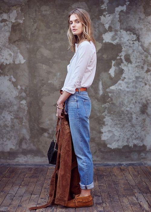 Mocassins & Saharienne + jean taille haute