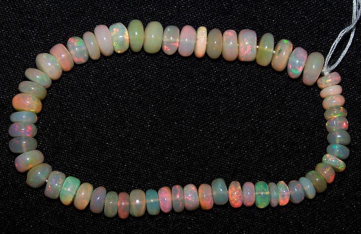 """31 Ct Flashy Premium Ethiopian Welo Opal Roundelle (56) Beads 5 to 7 MM AAA 6 """""""