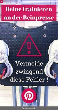 Beine trainieren sitzend. Die Beinpresse im Fitness Studio (kaufen). Po und die Quads Muskeln (Oberschenkel) trainieren. Anleitung, welche Muskulatur? Gewichte richtig einstellen #Beinpresse #Fehler #Fußstellung Beinpresse für zuhause kaufen