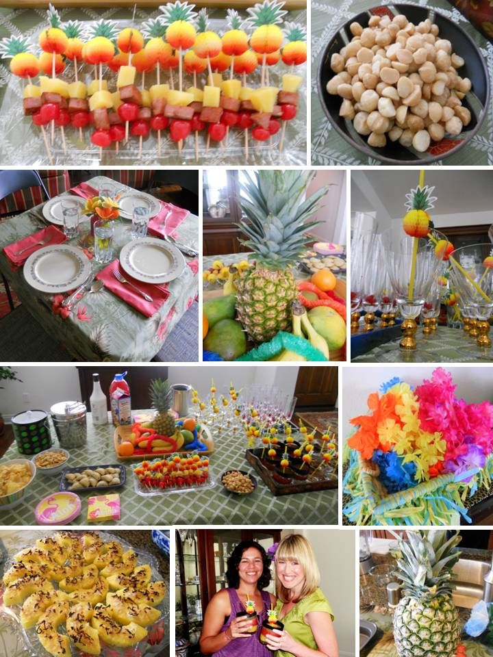 beach themed bridal shower menu ideas%0A Newlyweds Next Door  Mother u    s Day  Luau Bridal Shower  and my BFF is Back