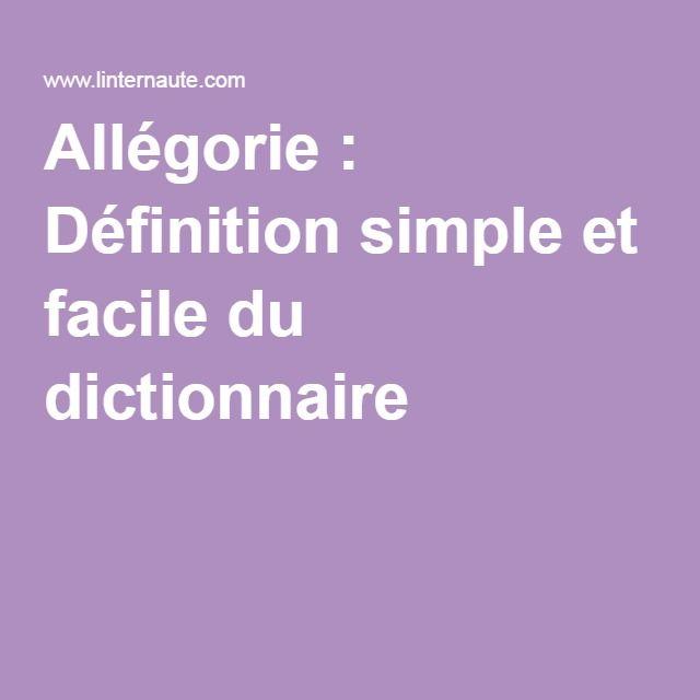 Allégorie : Définition simple et facile du dictionnaire